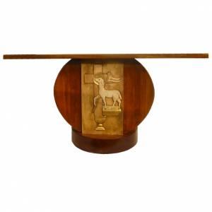 Altare in legno massello intagliato a mano 180x80 cm s1