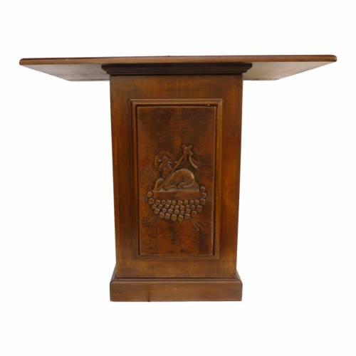 Altare in legno massello intaglio a mano 120x70 cm s1