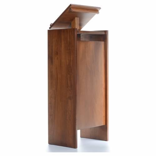 Ambone in legno massello regolabile in altezza 130x50x35 s3