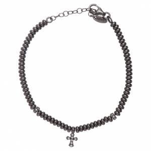 AMEN bracelets: AMEN 925 sterling silver bracelet finished in rhodium with a cross