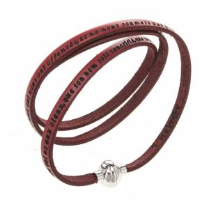Amen Bracelet in red leather Our Father FRA s1