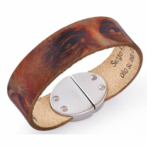 Amen bracelet, Pope Francis in classic leather s1