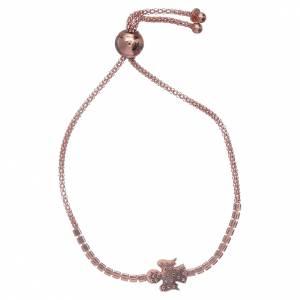 AMEN bracelets: AMEN rosè 925 sterling silver bracelet with a white zircon angel insert