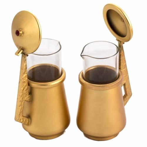 Ampolline da mensa in bronzo fuso dorato e ottone s4
