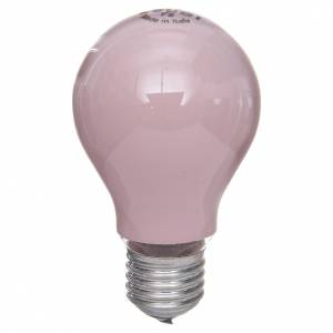 Ampoule 60W E27 rose illumination crèche noël s1