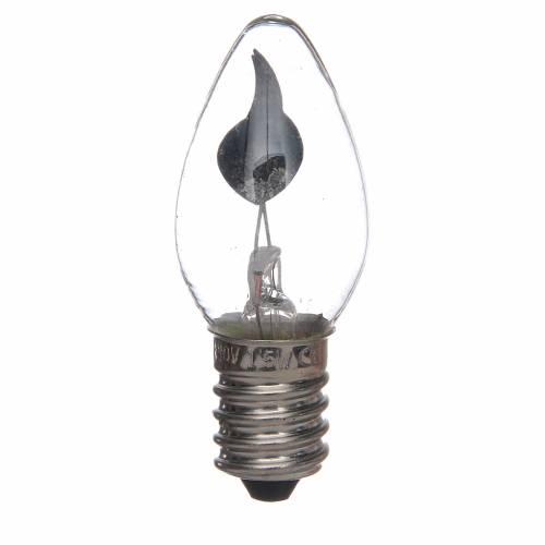 Ampoule effet flamme 5 cm crèche Noel E14 3W 220v s1