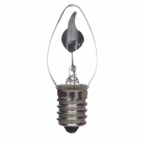 Ampoule effet flamme E14 1,5W crèche Noel s1