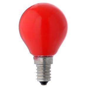 Lanternes et lumières: Ampoule globe E14 25W rouge