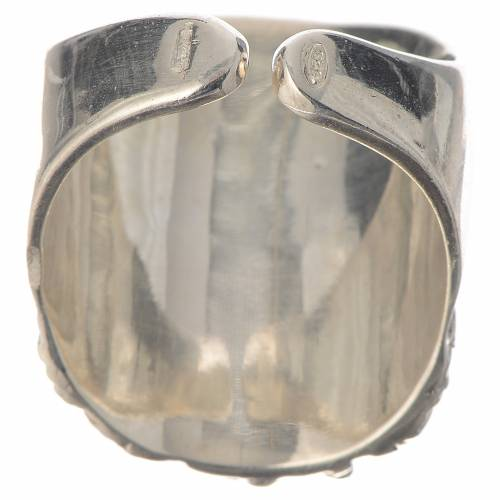Anello vescovile argento 925 Gesù s4