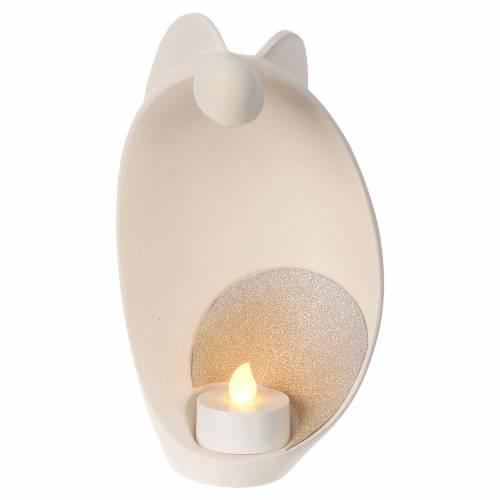 Ange de la flamme gold argile Centre Ave 17,5 cm s1