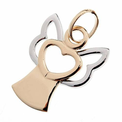 Angel 750/00 gold pendant stylized - 1,40 gr s1