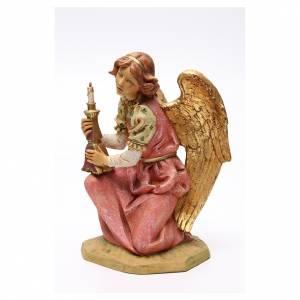 STOCK Angelo in ginocchio 52 cm rosa presepe Fontanini s2