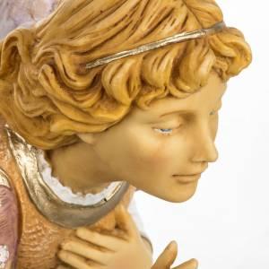 Statue per presepi: Angelo in ginocchio rosa 65 cm Fontanini