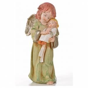Anges debout 15 cm Fontanini 6 pcs type porcelaine s5