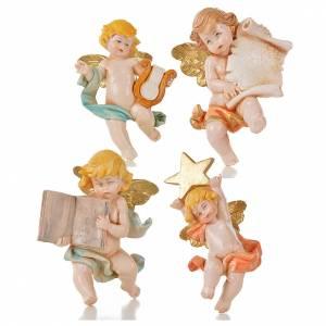 Angeli: Angioletti vari 20 pz Fontanini tipo porcellana cm 7