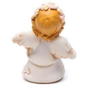 Angeli: Angioletto resina quadrifoglio con brillantino 6 cm