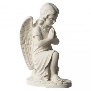 Angioletto sinistro marmo bianco di Carrara 34 cm s4