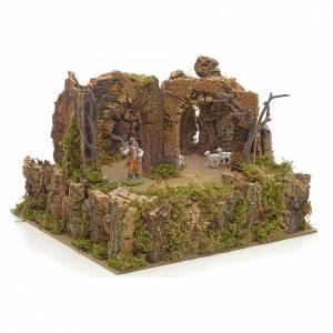 Animated nativity scene figurine, 6cm sheep and shepherd s1