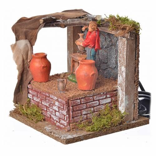 Animated nativity scene figurine, potter, 10 cm s2