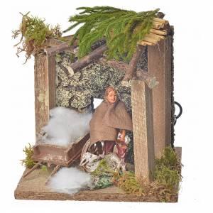 Animated nativity scene figurine, sheep shearer, 10 cm s3