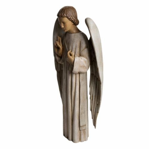 Annunciation Angel statue in painted Bethléem wood, 60 cm 3