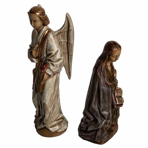 Annunciation statue in stone 29 cm, Bethlehem Nuns s2