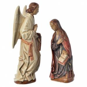 Statue in pietra: Annunciazione 29 cm pietra dei Pirenei Monastero Bethléem