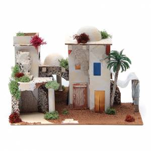 Settings, houses, workshops, wells: Arabian house with mirror, sized 25x35x20cm