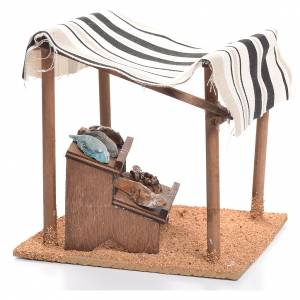Arabian tent with fish for nativities measuring 10cm s2