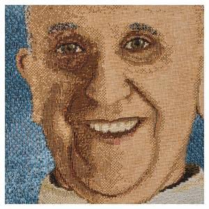 Arazzo Papa Francesco 47x34 cm s2