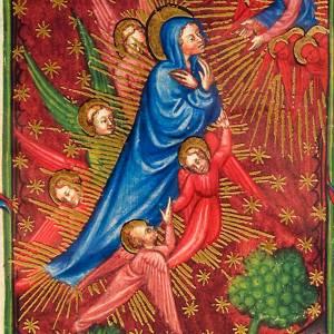 Asunción de la Virgen munuscrito miniado s2