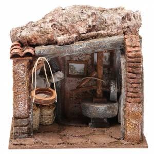Maisons, milieux, ateliers, puits: Atelier du meunier pour crèche 10 cm
