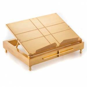 Atril de mesa en latón dorado s1