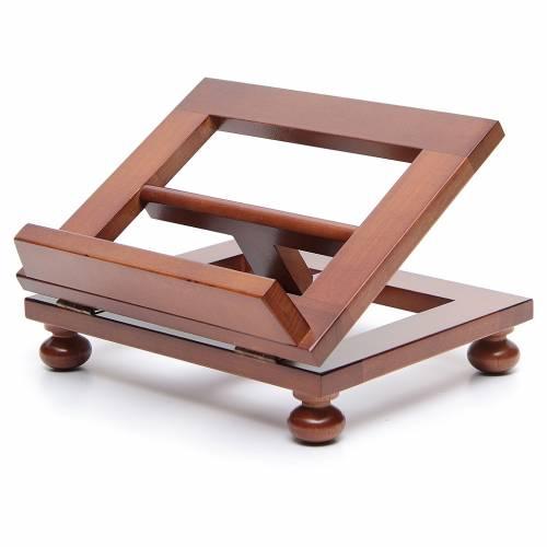 Atril de mesa madera de nogal 25x20 cm s2