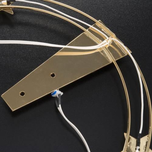 Aureola luminosa LED ottone dorato diam. 30 cm s7