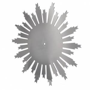 Auréole d'étoiles laiton filigrane nickelée s3