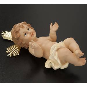 Baby Jesus in resin with halo of rays 18cm s3