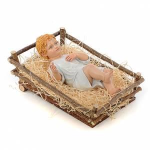Baby Jesus in resin with painted eyes, 30cm Landi s4