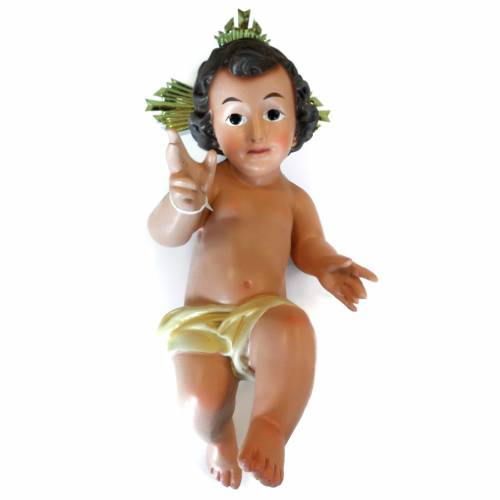 Baby Jesus statue with halo, 35cm made of ceramic 1