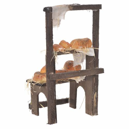 Baker's stall in wax, 13.5x8x5.5cm s3