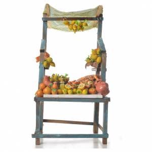 Cibo in miniatura presepe: Banco vendita di limoni in cera 41x23x15 cm