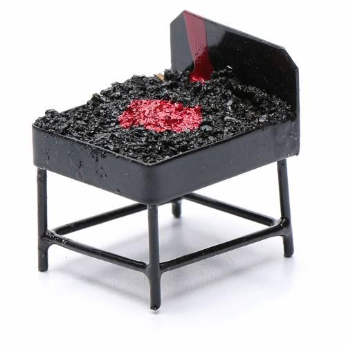 Barbecue metallo presepe h reale 3 cm s2