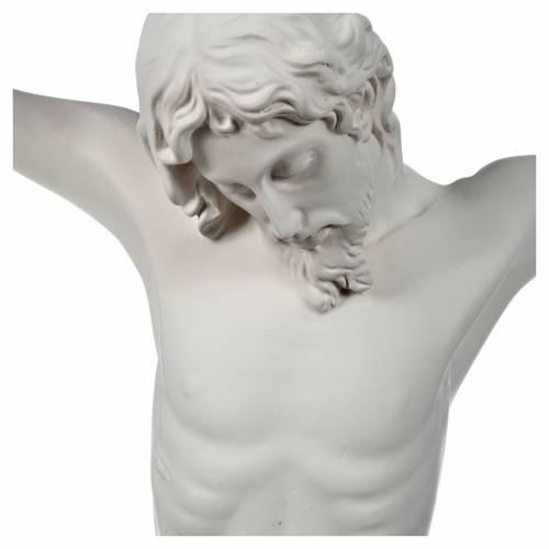 Bas relief Corps du Christ en fibre de verre blanche s2