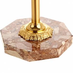Croci astili e basi portacroce: Base portacroce ottone con marmo