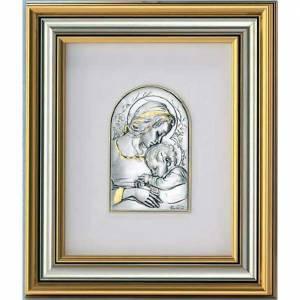 Silber Basreliefs: Basrelief Silber 925, Madonna und Jesuskind