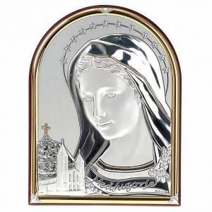 Bassorilievo bilaminato Madonna Medjugorje ovale base dritta s1