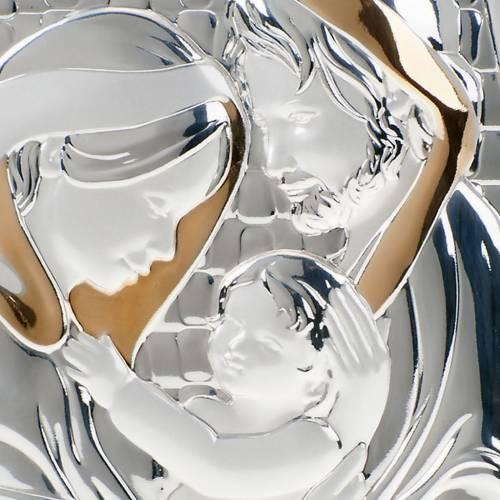 Bassorilievo bilaminato oro argento Sacra Famiglia s3