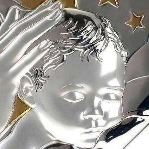 Bassorilievo bilaminato oro arg. Maria con bimbo e luna s3