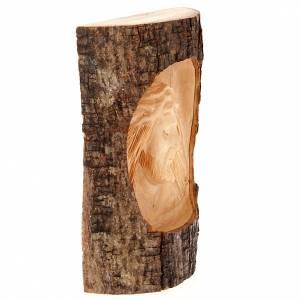 Bassorilievo legno Volto di Cristo occhi chiusi s3