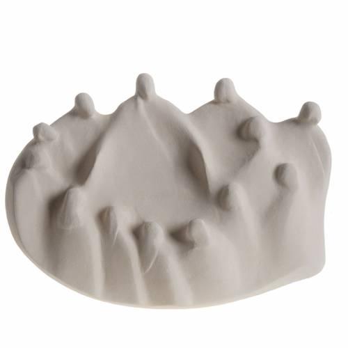 Bassorilievo Ultima Cena stilizzata argilla bianca s1